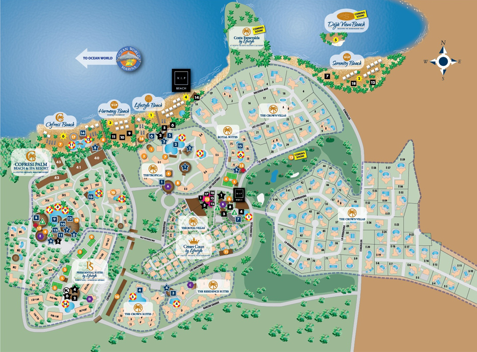 The Resort`s Map